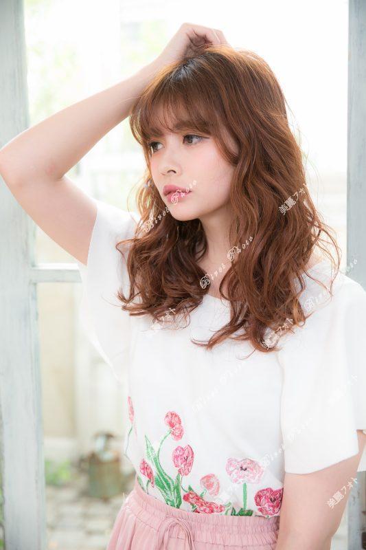 ガーリーパーマ★★〜シースルーバング添え〜2