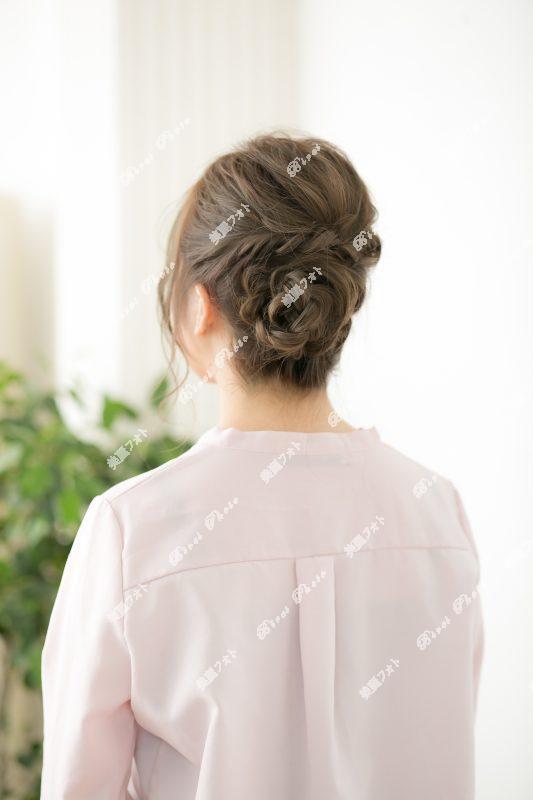 2018年版★編み込みまとめ髪★